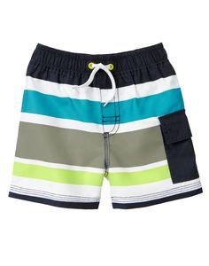 Striped Cargo Pocket Swim Shorts Gymboree Boys