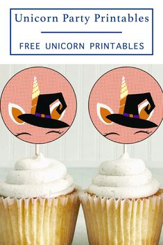 Download these bewitching unicorn party circles from Everyday Party Magazine and use them for cupcake toppers, favor tags, or even stickers for Halloween! #TotallyFreePrintables #HalloweenUnicorn #UnicornPrintables
