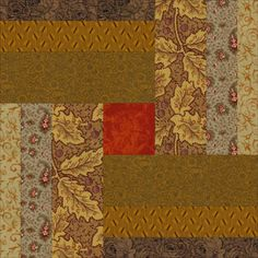 Woven Logs Quilt and Quilt Block Pattern