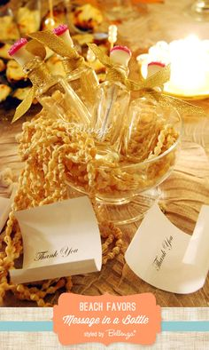 Message in a Bottle // Beach Inspired Favors with Pretty Packaging Inspiration!