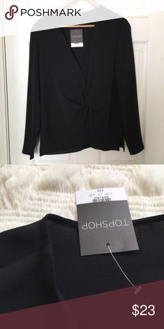 Topshop front knotted top Brand new with tag stylish top Topshop Tops Tees - Long Sleeve