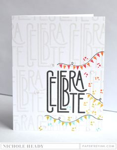 Celebration Banners Card by Nichole Heady for Papertrey Ink (December 2016)