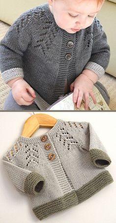 Baby Cardigan Sweater Strickmuster - In the Loop Stricken - baby sweater knitt. - Baby Cardigan Sweater Strickmuster – In the Loop Stricken – baby sweater knitting patterns – # - Beginner Knitting Patterns, Easy Knitting, Knitting For Beginners, Knitting Charts, Kids Knitting, Knitting Stitches, Knitting Projects, Crochet Baby, Knit Crochet
