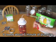 How to seal a mason jar WITHOUT an electric vacuum sealer.    I didnt need a big expensive Foodsaver Electric Vacuum Sealer. This automotive vacuum pump and wide mouth mason jar sealer works well for the one thing i need it for... sealing food for storage in glass jars.    This is also good for disaster prep and SHTF food storage that works even whe...