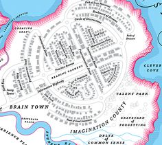 What would the map of your psyche look like? #map #illustration #mind