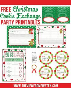 Free Christmas Cookie Exchange Party Printables