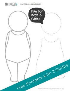 Paper doll printables + 2 templates for fabric outfits!!