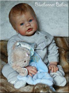 Keyden by Reva Schick for Lee Middleton Dolls; Reborn by Bluebonnet Babies