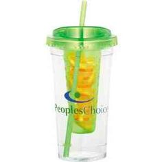 Infuse some flavor into your beverage with the removable fruit infuser. Easy to use pull up silicone lid for easy filling. AS tumbler and straw with stopper. BPA Free. 24oz