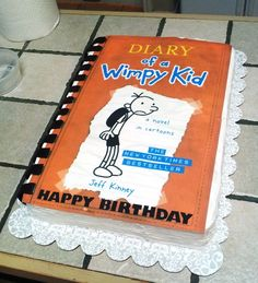 Diary of a wimpy kid cake - Uploaded by an Inkedibles customer into an inkedibles.com competition for cakes made using Inkedibles products (May 2013)