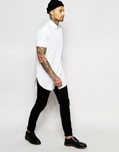Image 4 of ASOS White Shirt In Super Longline