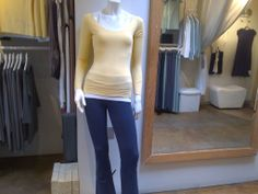 raw edge top and yoga pants in navy Looking Gorgeous, Beautiful, Pastel Yellow, Yoga Wear, Raw Edge, White Cotton, Yoga Pants, Sunshine, Normcore