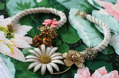vintages brooches to necklace, voila