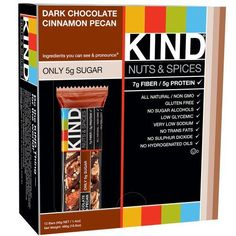 KIND Bars Dark Chocolate Cinnamon Pecan Gluten Free 14 Ounce Bars 12 Count * Check this awesome product by going to the link at the image.