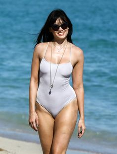 DAISY LOWE in Swimsuit at a Beach in Miami 01/05/2017