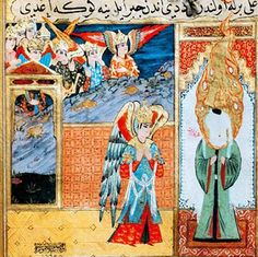 Islamic Depictions of Mohammed with Face Hidden     In order to sidestep the prohibition against actually depicting  Mohammed, artists in Mu...