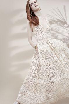 Défilé Elie Saab croisiere 2016 robe blanche broderie mariage
