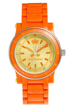 Juicy orange watch from Juicy Couture.