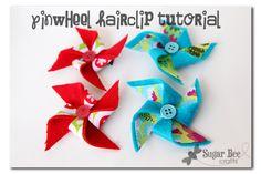 Pinwheel Hairclips Tutorial ~ Sugar Bee Crafts