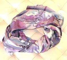 Handmade watercolour printed to a 100 Silk by ACQUARELLIfashion, €140.00