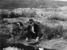 Alluvial gold panning, 1930s Us History, American History, Bozeman Trail, Panning For Gold, Gold Miners, Westward Expansion, Gold Prospecting, Into The West, Le Far West