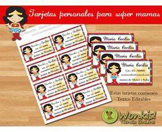 Super Mamá - Tarjetas Personales para Mamas http://www.wonkistienda.com.ar/super_mama_tarjetas_personales_para_mamas