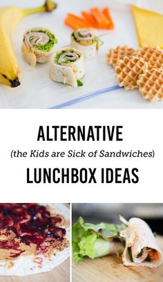 Sandwich free lunch box ideas for kids- So many great ways to make the kids lunches fresh & interesting again!