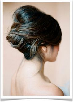 Love this updo...probably easier to do with Ashlie or Merri's hair than mine...