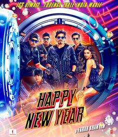 Check out the exclusive first look poster of #HappyNewYear starring Shah Rukh Khan, Deepika Padukone, Abhishek Bachchan and Boman Irani.