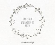 Watercolor wreath 1 PNG floral clip art / by CheesecakeandPi