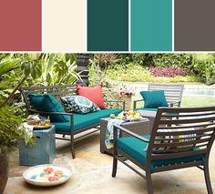 """Laurel 20"""" Sq. Outdoor Pillow Designed By Crate&Barrel via Stylyze"""