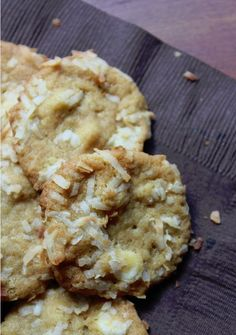 White Chocolate Coconut Macadamia Nut Cookies:
