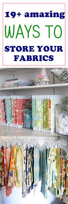fabric storage ideas | home decor | craft room organization | fabric organization | diy storage | free sewing patterns