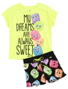 Marshmallow Pajama Set - Pajama Sets - Ideas of Pajama Sets Kids Outfits Girls, Tween Girls, Girl Outfits, Cute Outfits, Cute Pjs, Cute Pajamas, Pijama Disney, Justice Pajamas, Chic Summer Outfits