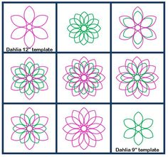 I've got this one in both sizes-I need to play with it----4Dahlia Longarm Quilting Template