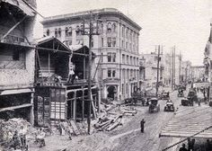 Ca 1914 - Commerce St. widening project.