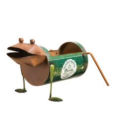 Rusted & Repurposed Can Frog Planter #zulily #zulilyfinds