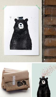 bear print + packaging / lieke van der vorst.