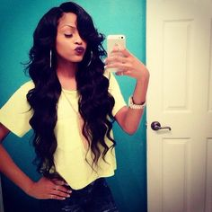 """Brazilian Body Wave in lengths 18"""", 20"""", 22"""", and 24"""". Shop Bows Bijoux Hair Co. today and change up your look."""