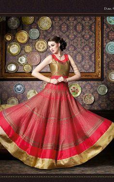 Beautiful Bridal Red Designer Anarkali Suit