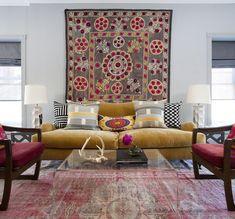 BoHo Home: This living room is soooooooooo my style
