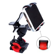 TecHERE BikeClaw - Supporto Universale per Bici / Biciletta / Moto - Porta telefono cellulare smartphone compatibile con iPhone 6 plus 6 5 5s 5c 4s, Samsung Galaxy S6 S5 S4 S3 S2, Lumia, Sony Xperia, LG, HTC, navigatore GPS ed altri dispositivi di larghezza fino a 9 cm - Regolabile con rotazione 360° - Colore Nero TecHERE http://www.amazon.it/dp/B00YD80TCE/ref=cm_sw_r_pi_dp_JnIBvb1PP04ZK