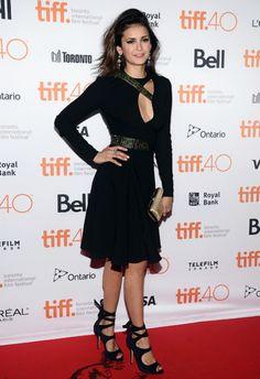 "rainbowinacloud: "" Nina Dobrev   ""The Final Girls"" Premiere - 2015 Toronto International Film Festival """