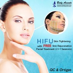 DealSPOT online shopping Philippines | HIFU Skin Tightening with FREE Skin Rejuvenating Facial Treatment (2 + 1 Sessions)