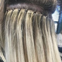 SNEAK PEAK ➝ Our amazing patented micro-link skin weft extension method is amazing! With proper maintenance, are NON-DAMAGING! Klix Hair Extensions, Extensions For Thin Hair, Professional Hair Extensions, Hair Extensions Before And After, Hair Extensions Tutorial, Hair Beads, Hair Weft, Instagram, Up Dos