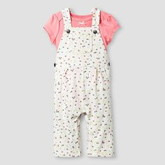 Baby Girls' Bodysuit and Print Overall Baby Cat & Jack™  - Pink. Image 1 of 2.