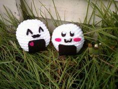 Crochet Blushing Onigiri Plush by OwlPudding on Etsy, $15.00