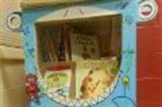 Eldévé, le croque-livres, est situé à l'intérieur du service de garde au 7630, 22e Avenue à Montréal.  #croquelivres #littlefreelibrary #lecture #enfants #livres
