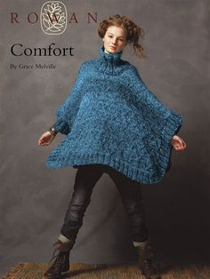 Comfort Cable Poncho By Grace Melville - Free Knitted Pattern With Website Registration - (knitrowan)