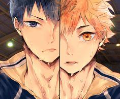 Hinata Shoyo y Kageyama Tobio [Karasuno] ~ Haikyuu!! (Anime, Deportes, Shonen, Volleyball)